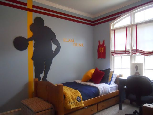 Creative Decorating Ideas Teen Boys Room Basketball Court
