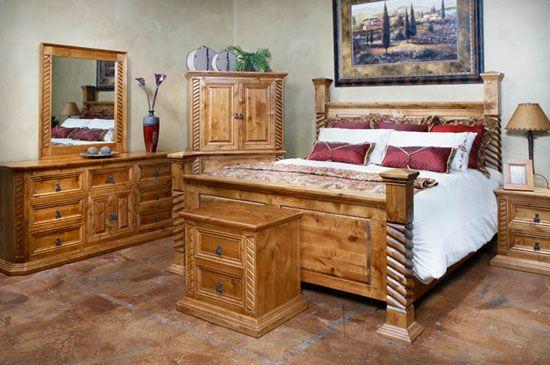 Bedroom Furniture Tempe Rustic Sante, Mexican Rustic Bedroom Furniture