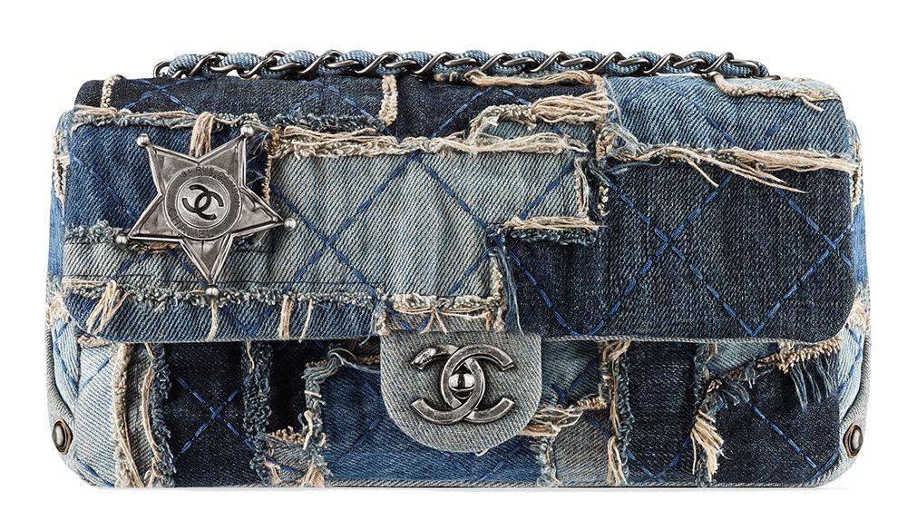 f45a767b66a6 Chanel Denim Patchwork Flap Bag