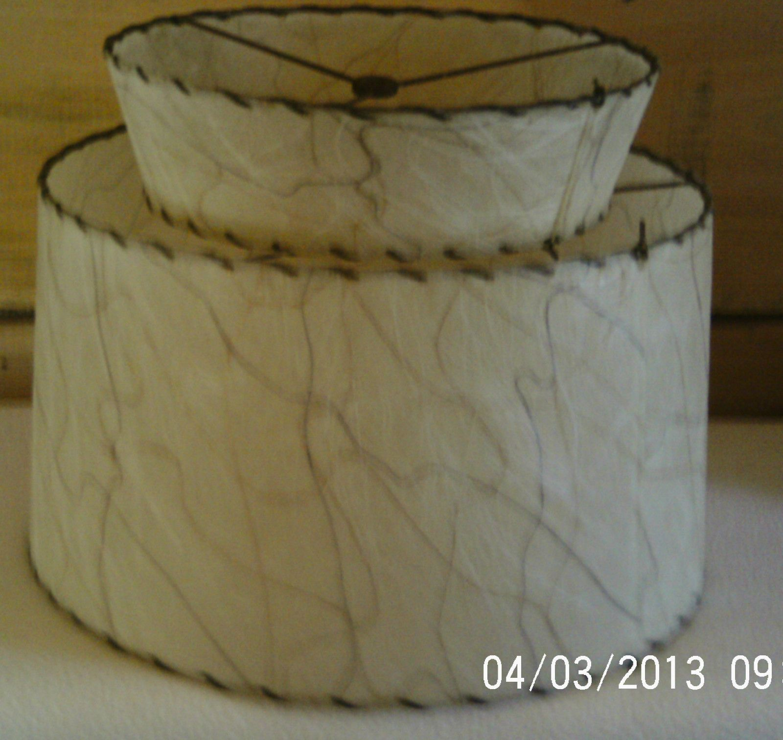 Retro mid century modern fiberglass tier lamp shade with lace trim retro mid century modern fiberglass tier lamp shade with lace trim large ebay aloadofball Gallery