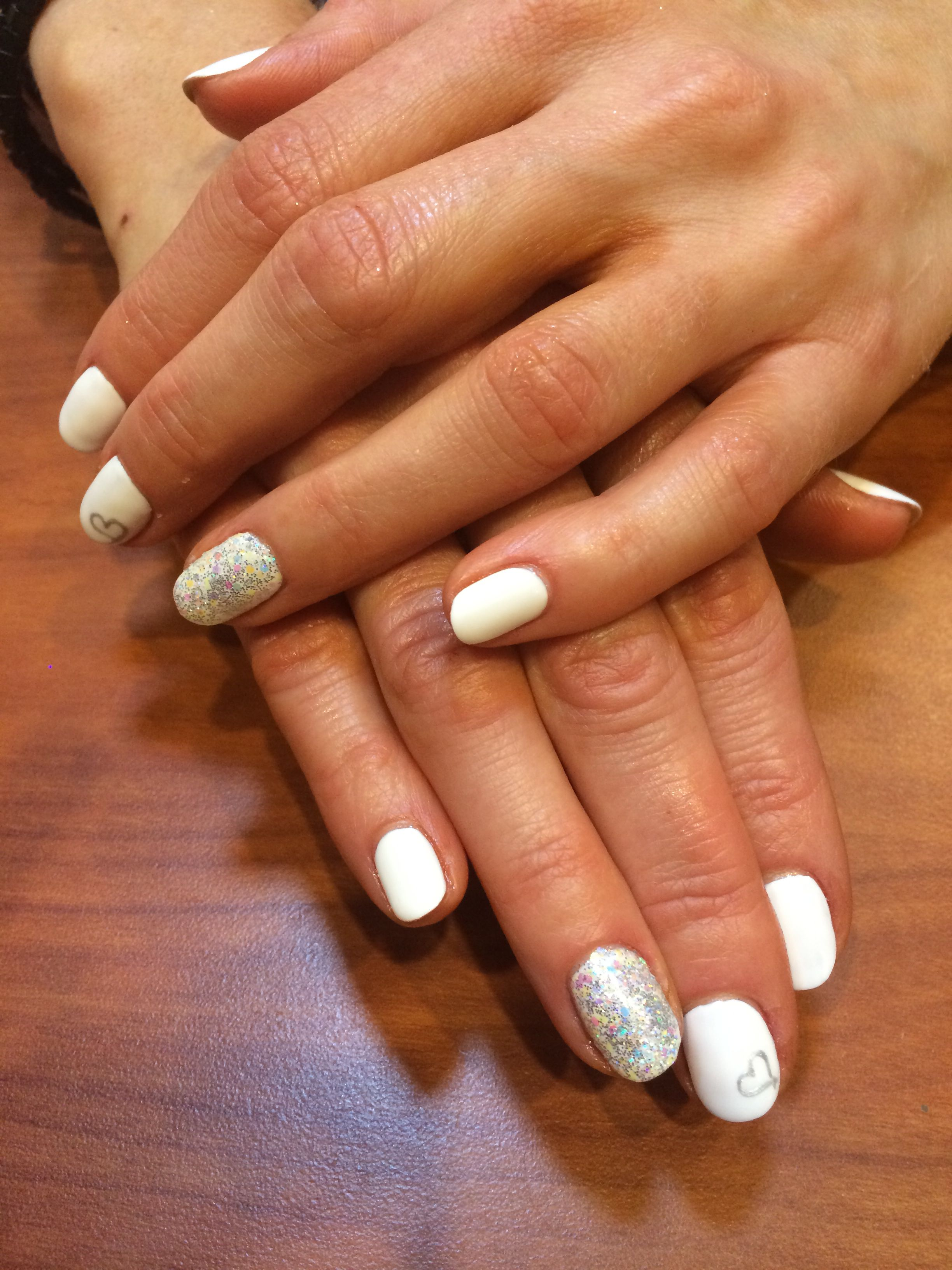 Wedding Nails! Shellac No Chip Polish #reflectionshairsalonandspa ...