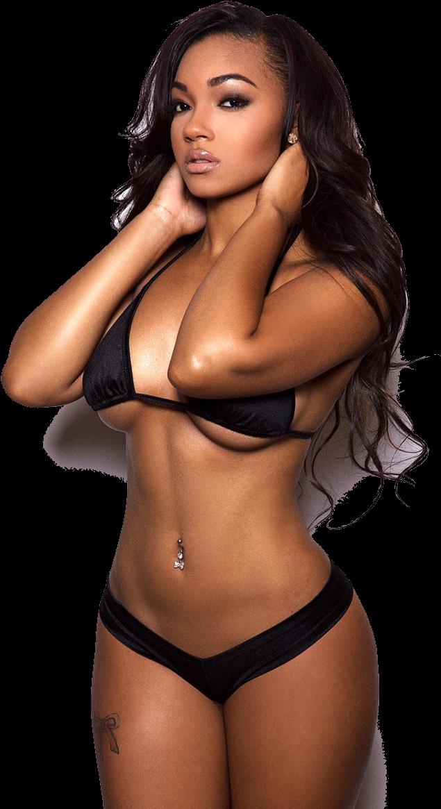 Bikini Model Png Transparent Beautiful Black Women Bikini Models Women