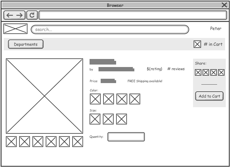 Pin By Visual Paradigm On Wireframe  Web Pages