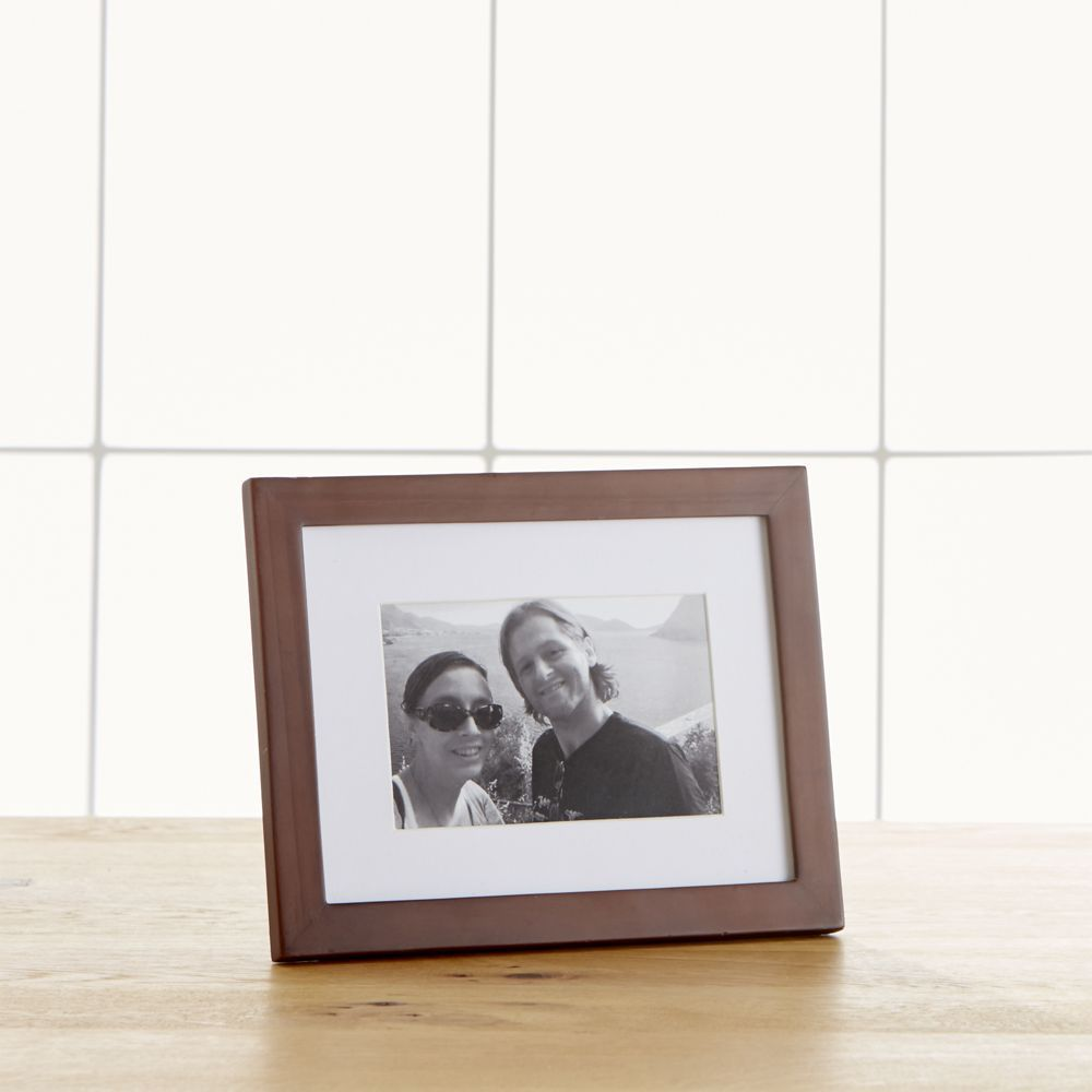 Matte Brown 4x6 Frame - Crate and Barrel
