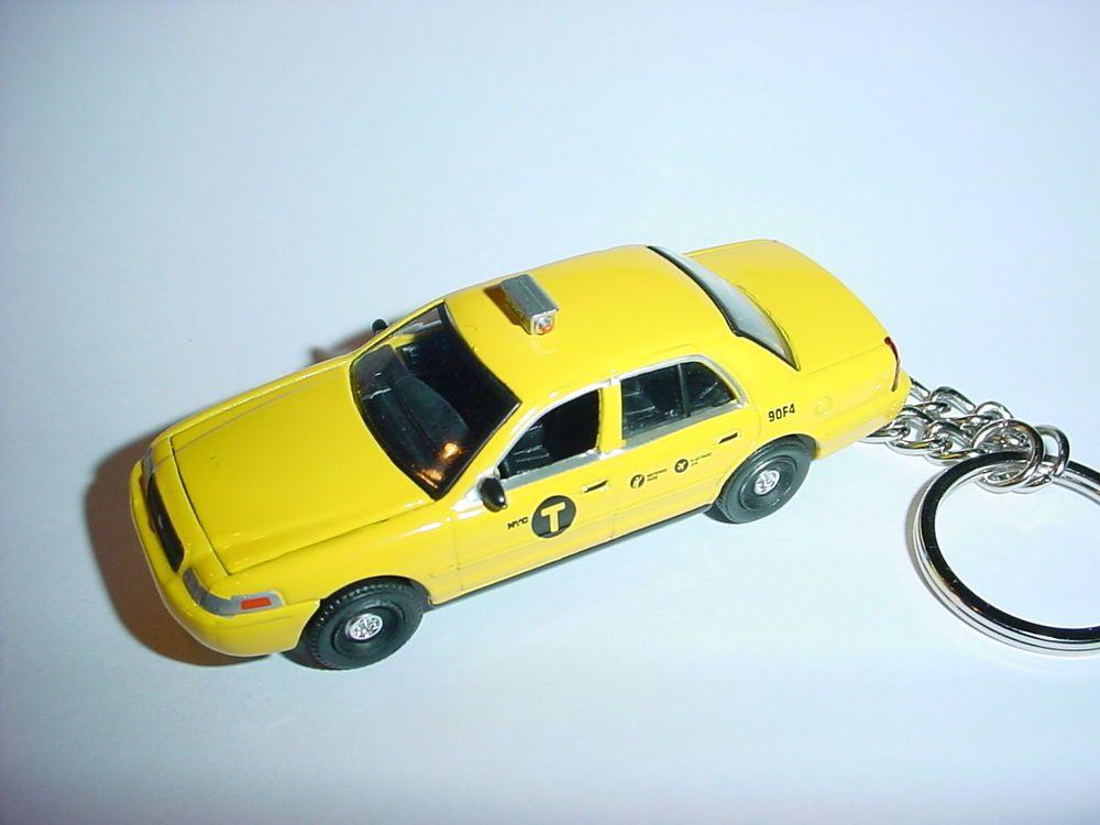 3d Ford Crown Vic Nyc Taxi Cab Custom Keychain Keyring Key Pos