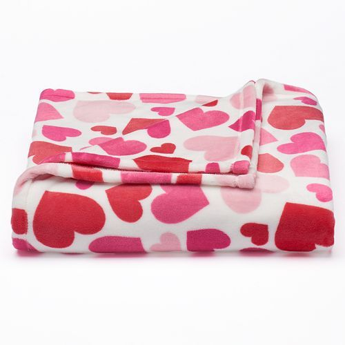 Kohls Throw Blankets Glamorous Red & Pink Hearts Ultraplush Throw  1 For Me & 1 For Zuzu For Decorating Design