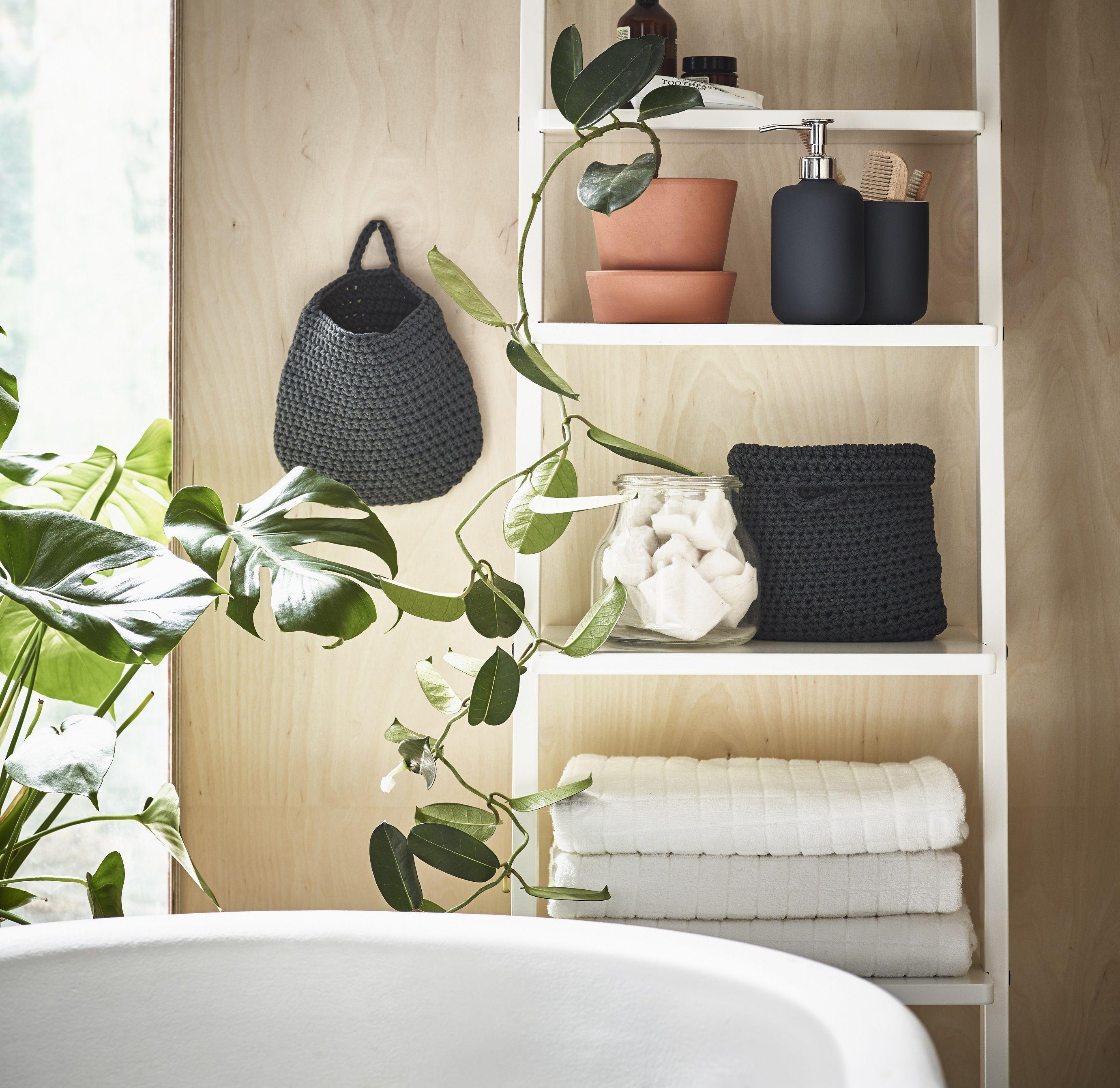 HJÄLMAREN wandrek | #IKEA #IKEAnl #badkamer #kast #plant #opberger ...