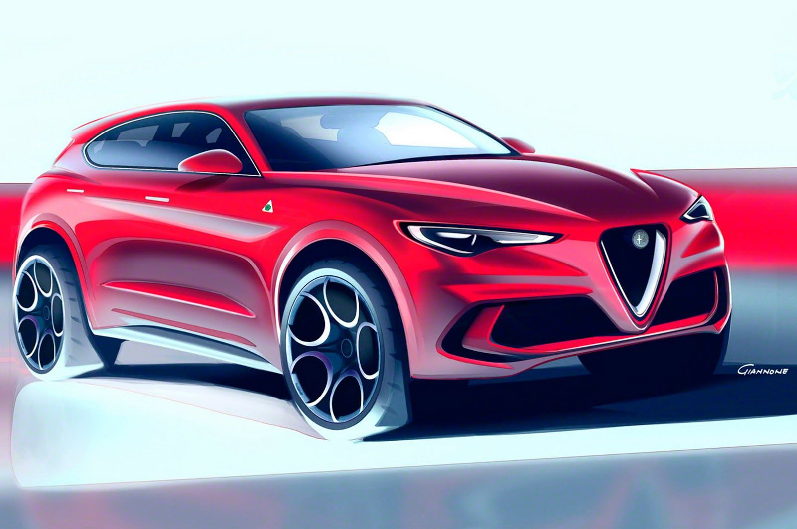 New Alfa Romeo Stelvio Suv Lands In La With Giulia Styling Carscoops Alfa Romeo Stelvio Alfa Romeo Automotive Design