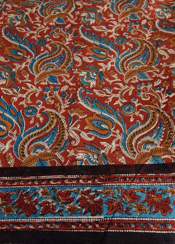 596 Werften Sari-Stoff Block Print Sari Fabric Indian von Craftise