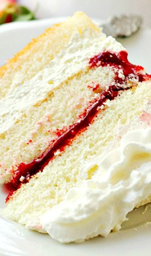 Strawberry Shortcake Cake Layers of moist buttery cake filled