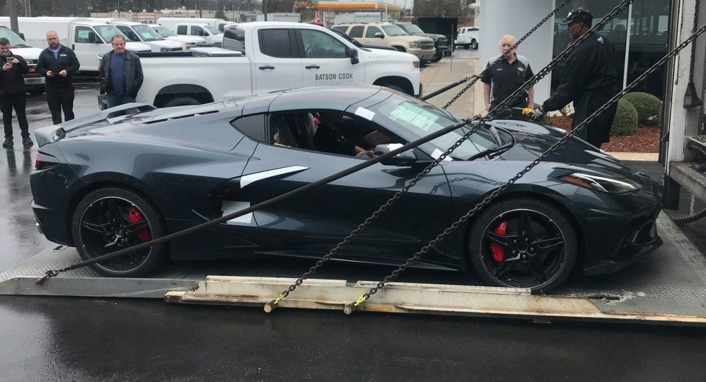 Watch Dealer Delivery Of First 2020 Corvette C8s Including