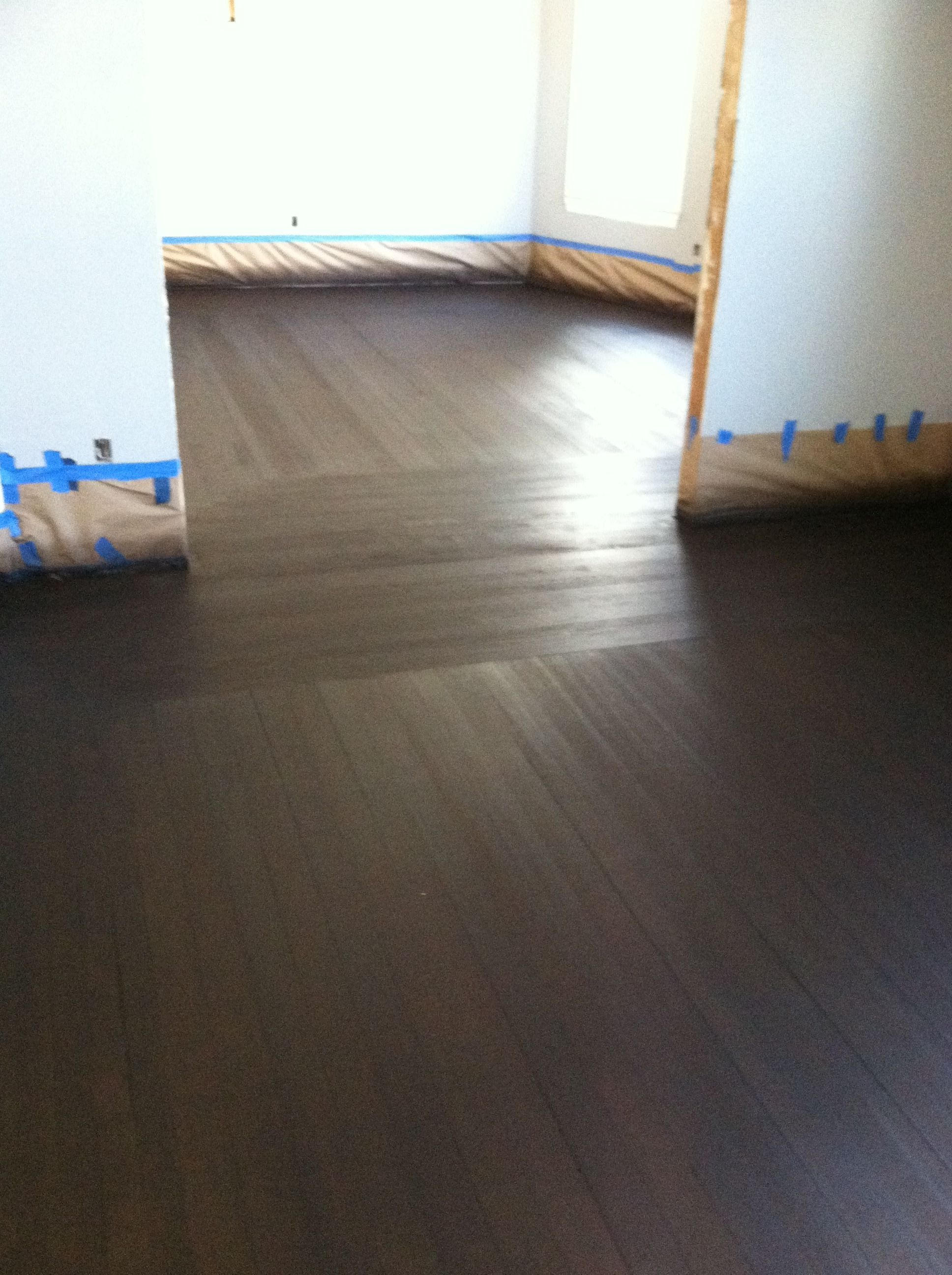 Maple Flooring Border With Heartpine Flooring For Body Stain Spraying General Finishes Dark