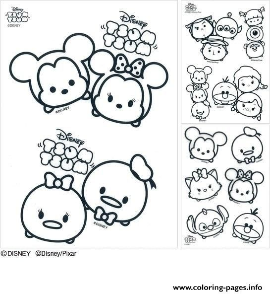 Print Disney Tsum Tsum Coloring Pages Tsum Tsum Coloring Pages