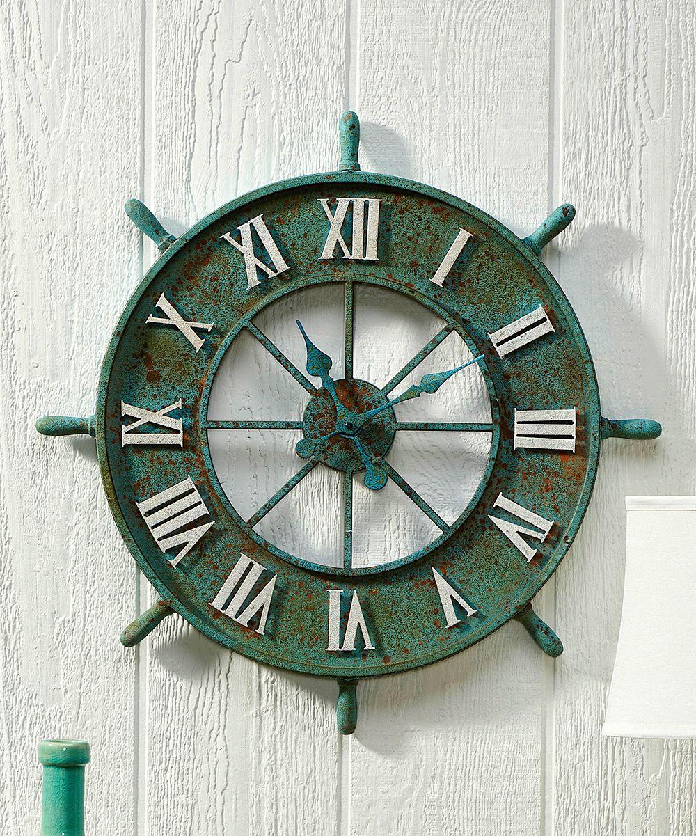 Captain wheel wall clock wall clocks and products