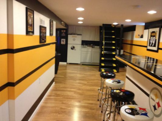 Our Steelers Man Cave Steelers Man Cave Basement