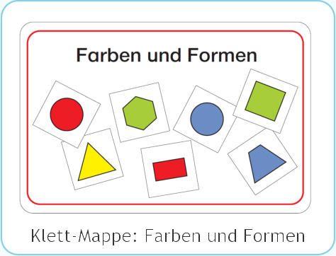 klettmappe farben und formen matematica pinterest
