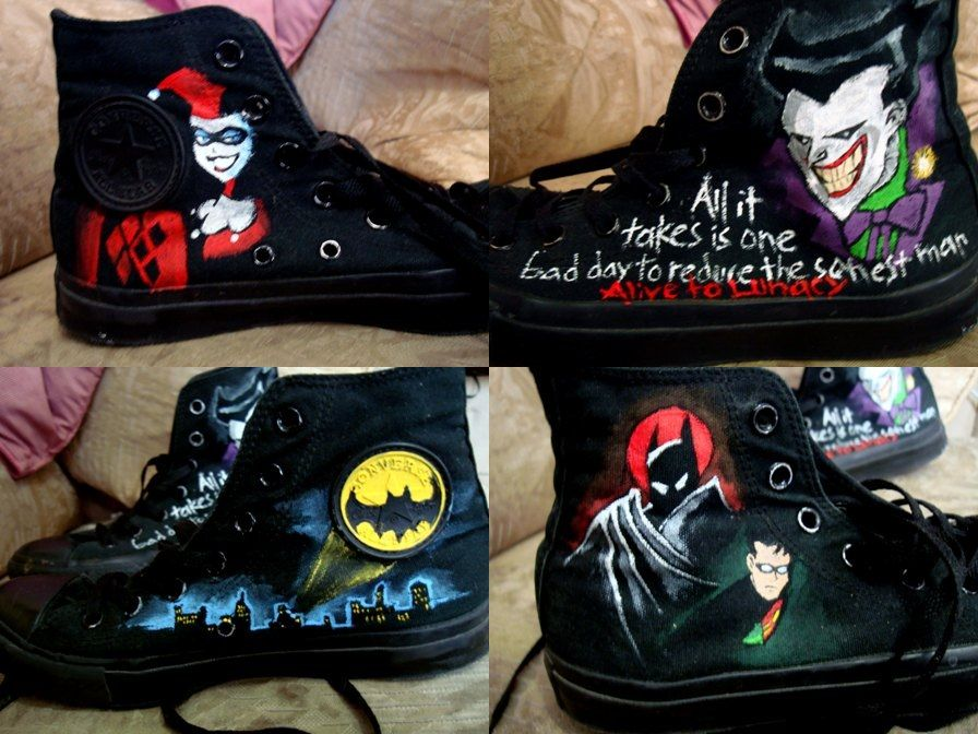 Batman converse shoes...holy poo I'm in heaven