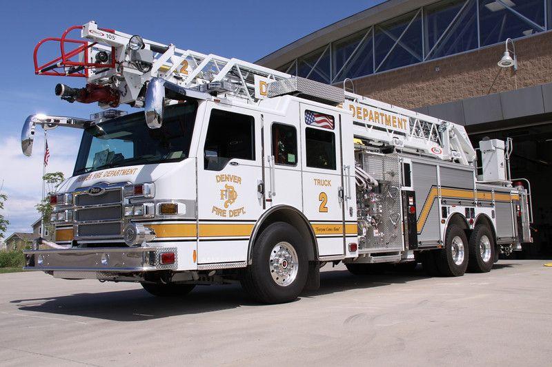 Denver Fire Department, Aerial Ladder, Truck 2 Fire