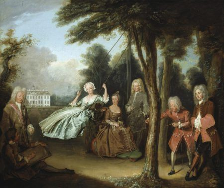 By Phillipe Mercier. Lord Tyroconnel with family at Belton House.
