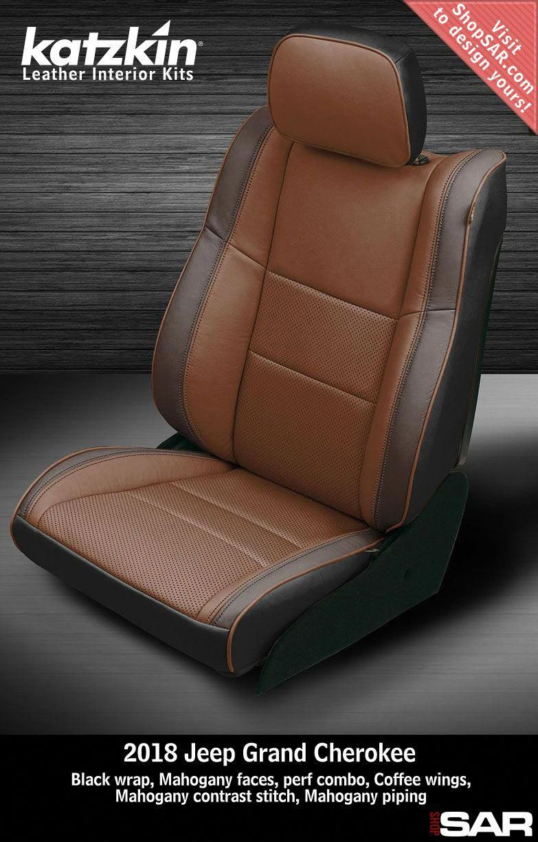 K913 100 This Is A 2018 Jeep Grand Cherokee Seat With Black Wrap Mahogany Faces Perf Combo Coffee W In 2020 Leather Seat Covers Leather Seat Automotive Upholstery