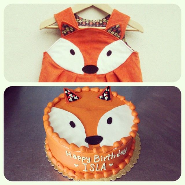 Fox Cake To Match A 2 Year Olds Birthday Dress So Cute I Did Her Smash Last Too Ellenwallacegray Vegan Capitalcitybakery Austin Atx