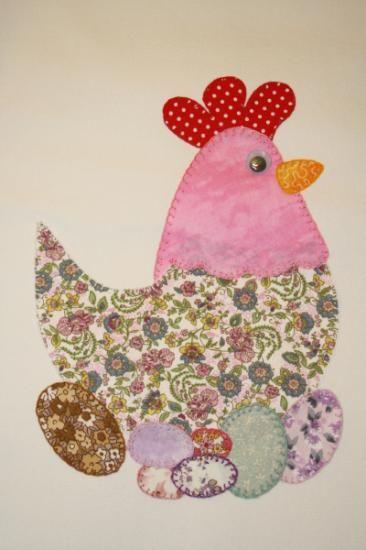 Delantal patchwork gallina loneta,telas variadas patchwork,hilo de ...