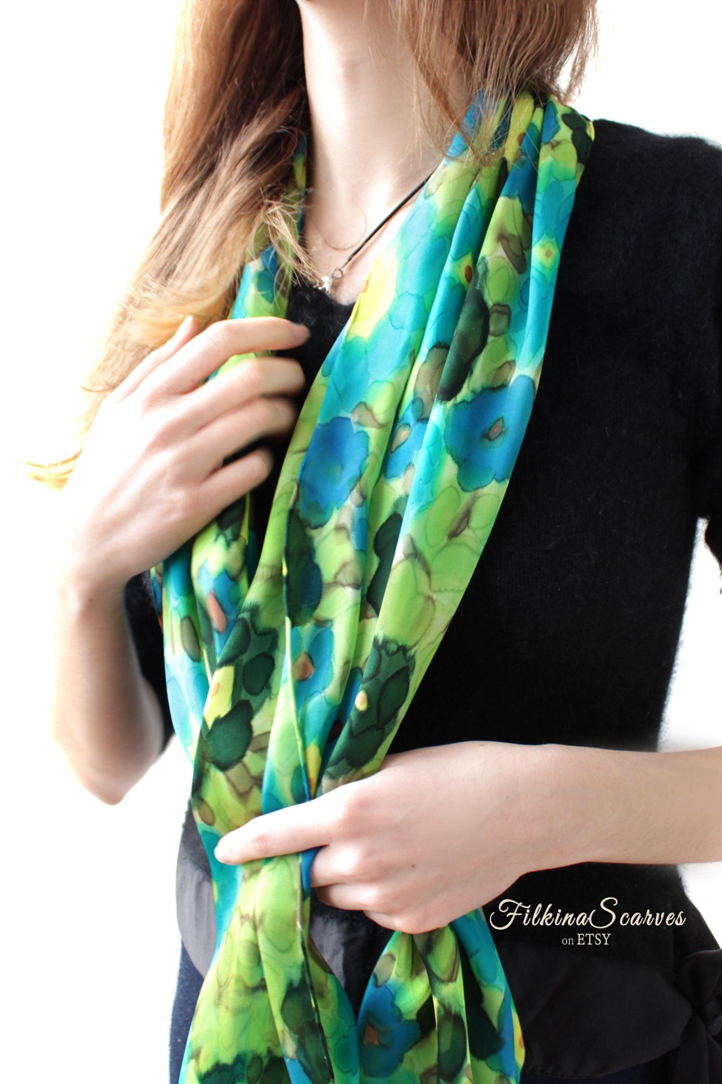 Silk Scarf beach Wrap  Shawl Scarves Designer beautiful Inspired Scarf