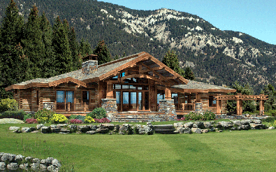 History And Examples Of Craftsman Arts Crafts Style Log Homes Log Home Floor Plans Timber House River House