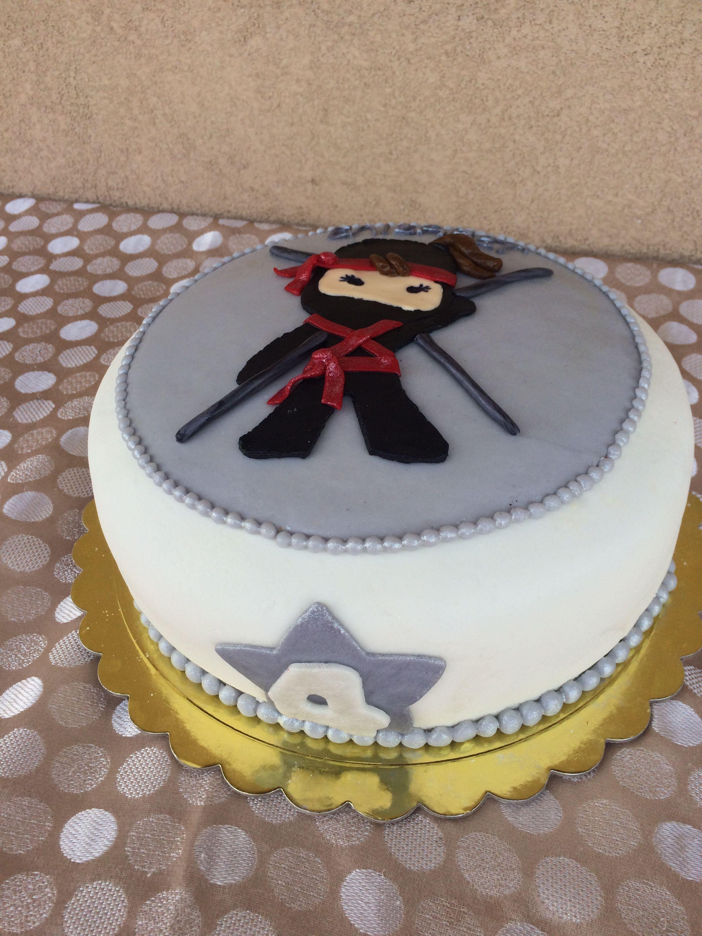 Super Ninja Girl Birthday Cake Ninja Birthday Cake Birthday Cake Birthday Cards Printable Inklcafe Filternl