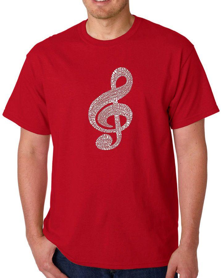 14504eb00a1 LOS ANGELES POP ART Los Angeles Pop Art Music Note Logo Graphic Word Art  T-Shirt- Men s Big and Tall