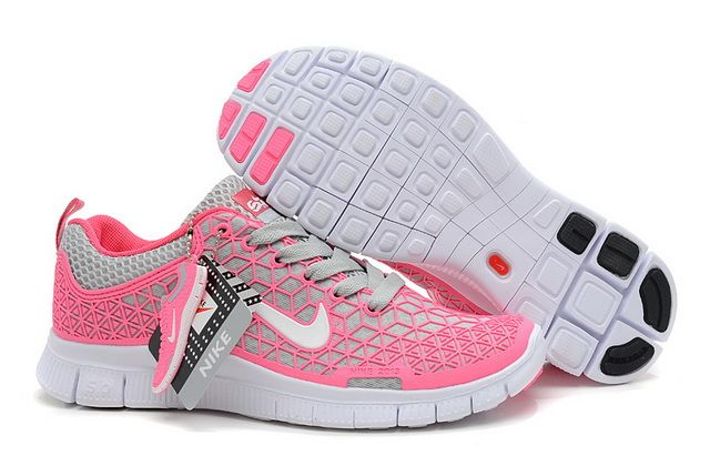 buy online 0d04a afff3 Womens Nike Free 6.0 Pink Grey Running Shoes
