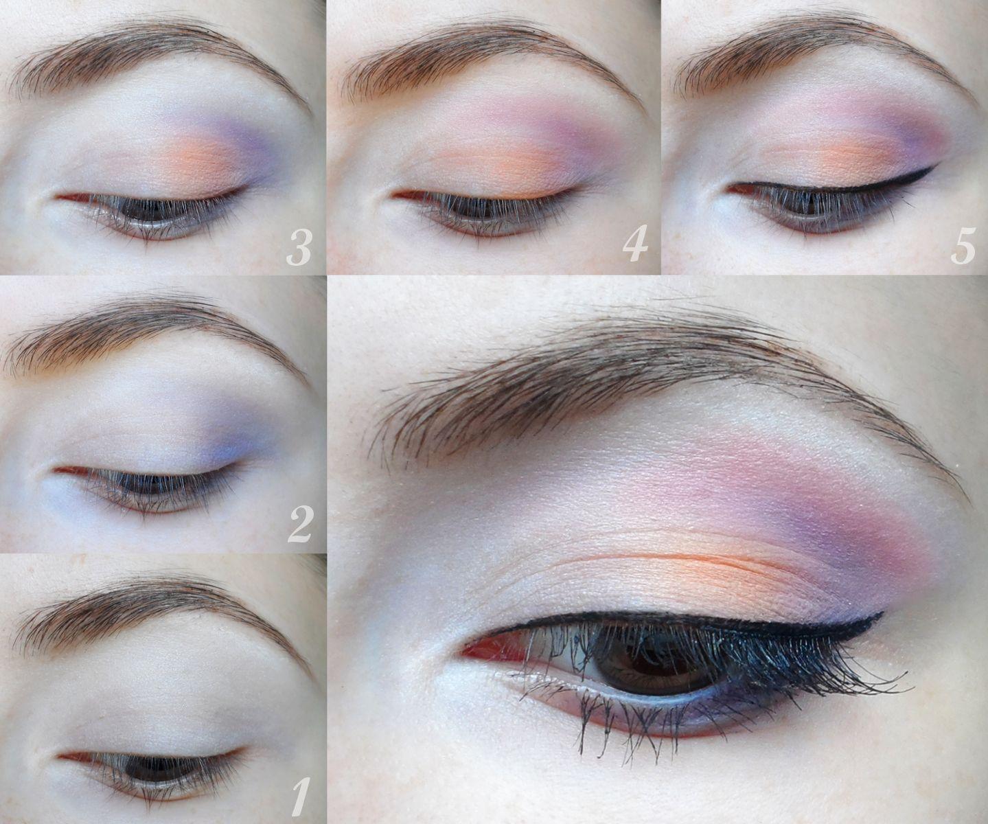 Springeyeshadowstepbysteptutorialpastelpink Summer Makeup Tutorialseye  Makeup