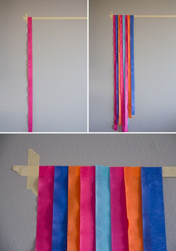 Make a DIY Photo Backdrop Using Streamers » Lovely Indeed