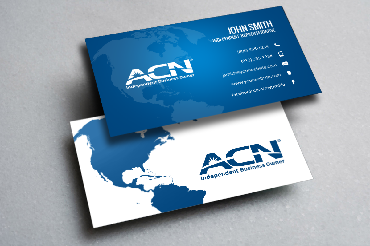 Acn Representatives Take Your New Business To The Next Level With One Of Our New Card Designs Mlm Free Business Cards Printing Business Cards Contact Card