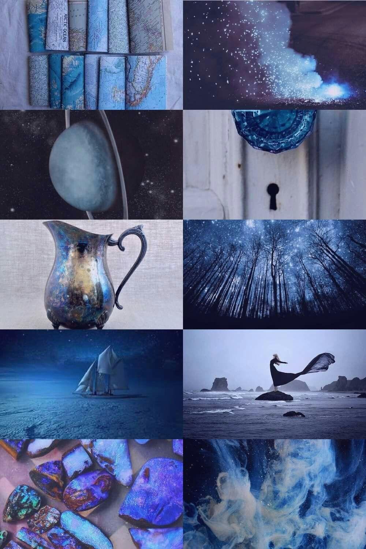 Aquarius Aesthetic Kolaze Kolaz Niebieski