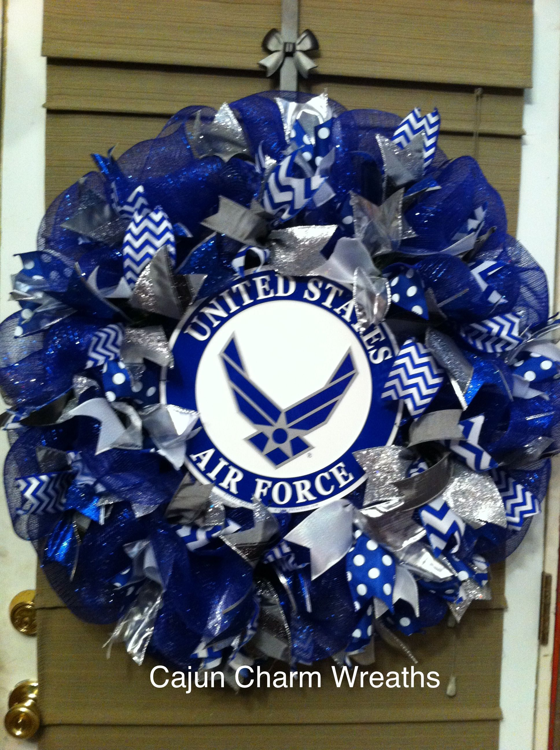Us air force ribbon wreath home inspiration pinterest for Air force awards and decoration