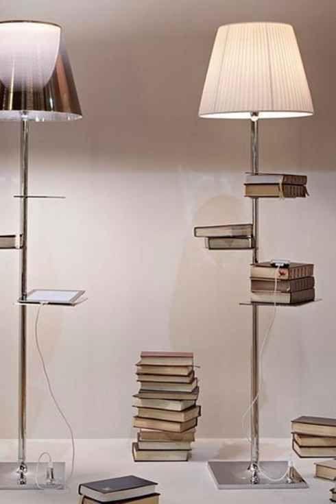 Genial Lámpara De Pie Con Estantes. 20 Ingeniosas Ideas Que Tienes Que Hacer En Tu  Pequeño Departamento