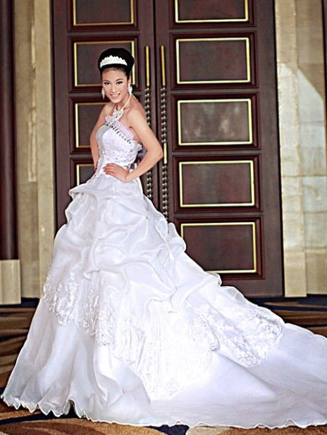Whole Charming Fashionable Off Shoulder Long Tail Bride Wedding Dress Top Dresses