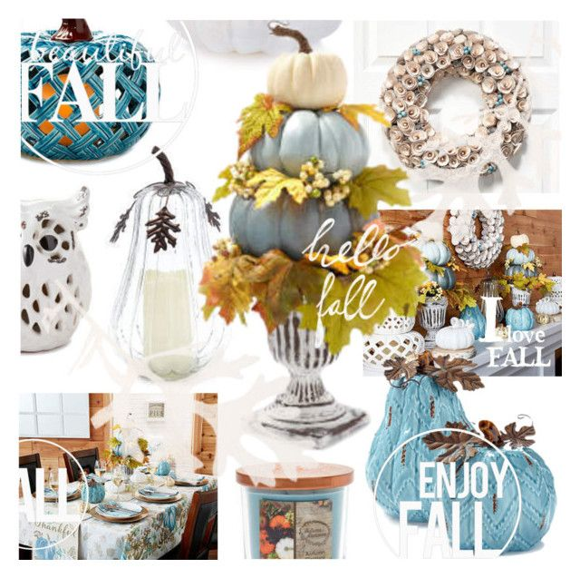 """""""fall blue"""" by vaughnroyal ❤ liked on Polyvore featuring interior, interiors, interior design, home, home decor and interior decorating"""