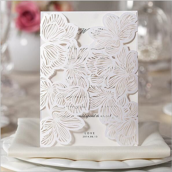 28 Style 1pcs Sample Wedding Invitations Card Hollow Lace Elegant Flora Flower Envelope Seal Business Card Casamento Party Decor