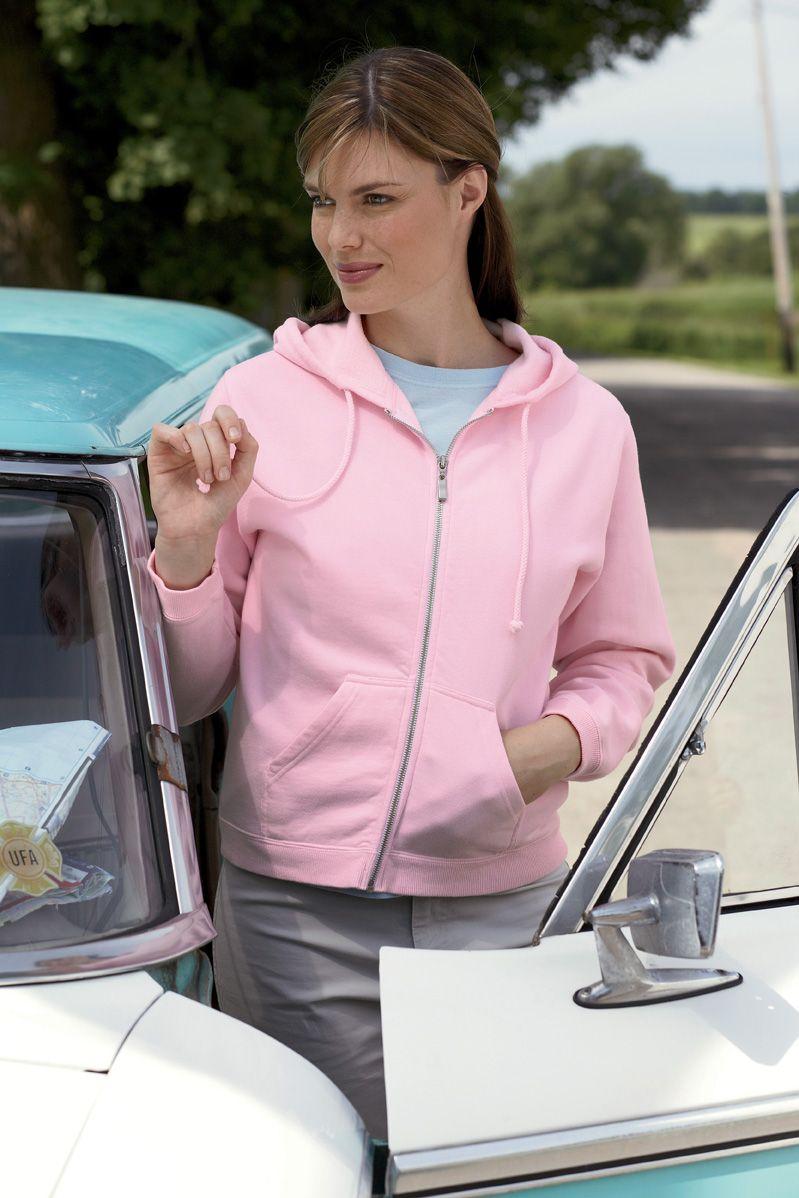 Comfort Colors C1598  Women's Garment-Dyed Full-Zip Hooded Fleece #comfortcolors #womensouterwear