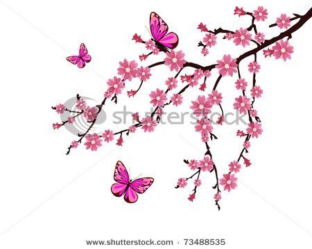 d256d949f Cherry Blossom and Butterflies | Butterfly tattoo ideas | Cross ...