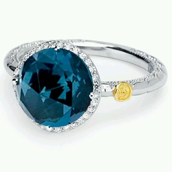 7e05adeed Tacori - London blue Topaz ring | All the Jewelry I want! | Jewelry ...