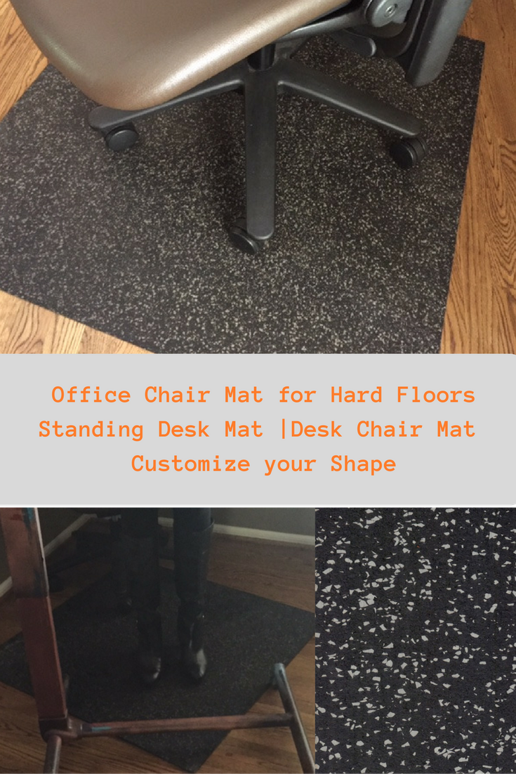 Office Chair Mat For Hardwood Floors Wicker With Ottoman This Or Concr Concrete Standing Desk Will Work A Sit To Stand Shown As Square Shape We Can Customize