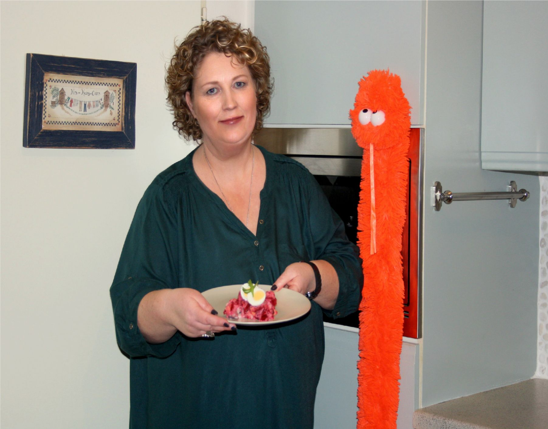 Elianne van den Heuvel from Tegelen, Netherlands made Dutch Herring Salad for the World Cup Cookbook.