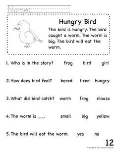 Free Reading Practice Worksheet for Preschool