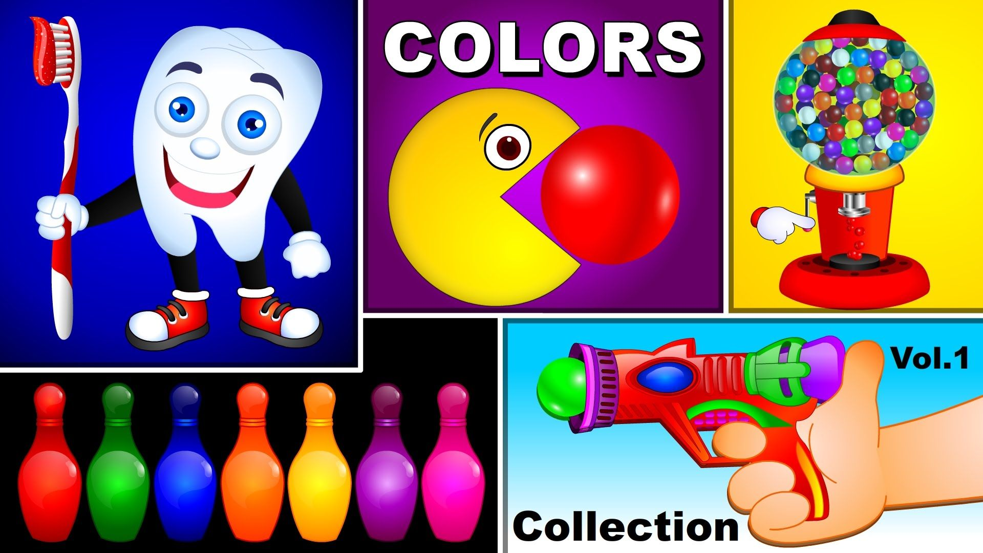 Learn Colors For Children With Colors Songs Collection Teach Colours Kids Learning Videos Children Kids Learning Videos Rhymes For Kids Learning Colors