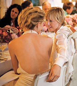 Portia De Rossi Wedding Kiss.Ellen Degeneres Portia De Rossi Kissing Compilation Www
