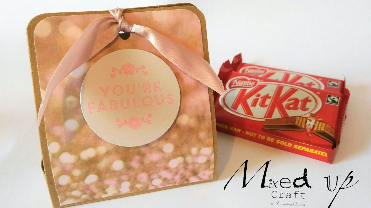 Chocolate Kit Kat holders using Stampin Up \'Falling in Love\' Dsp ...