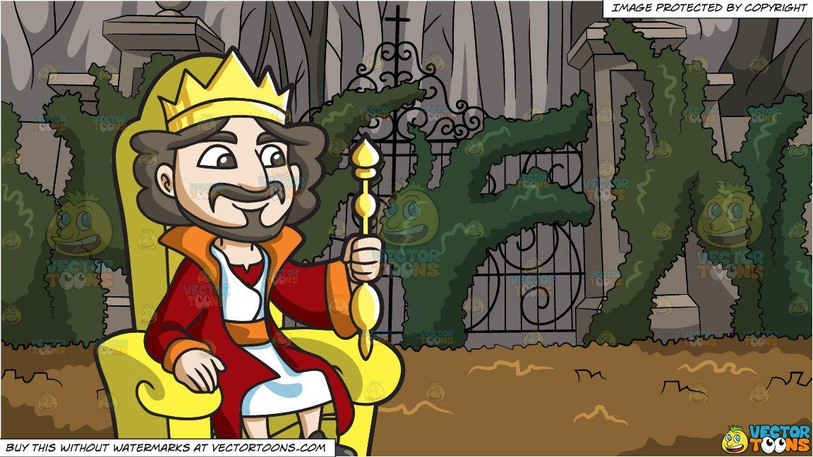 A King Sitting On His Throne – Clipart Cartoons By VectorToons